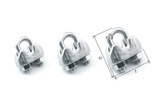 Wire rope clamps / grips 316 stainless steel marine grade