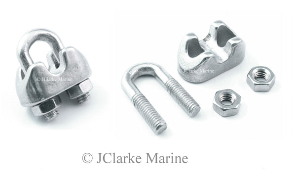 Wire rope clamps / grips