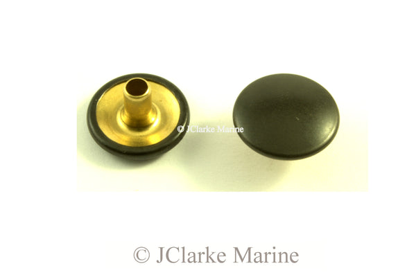 Genuine DOT Snap fastener CAP military black brass nickel plated