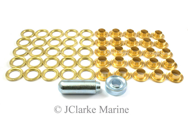 Eyelet kit 10mm brass