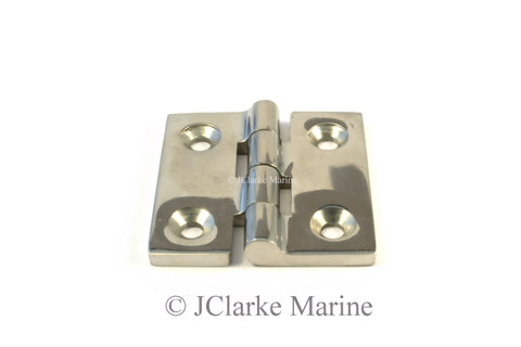 Square Butt Hinge 316 a4 stainless steel 50x50mm