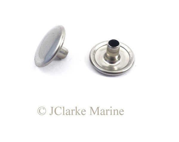 304 stainless steel snap fastener cap