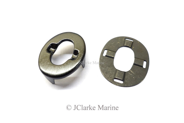 Military black turnbutton eyelet and washer