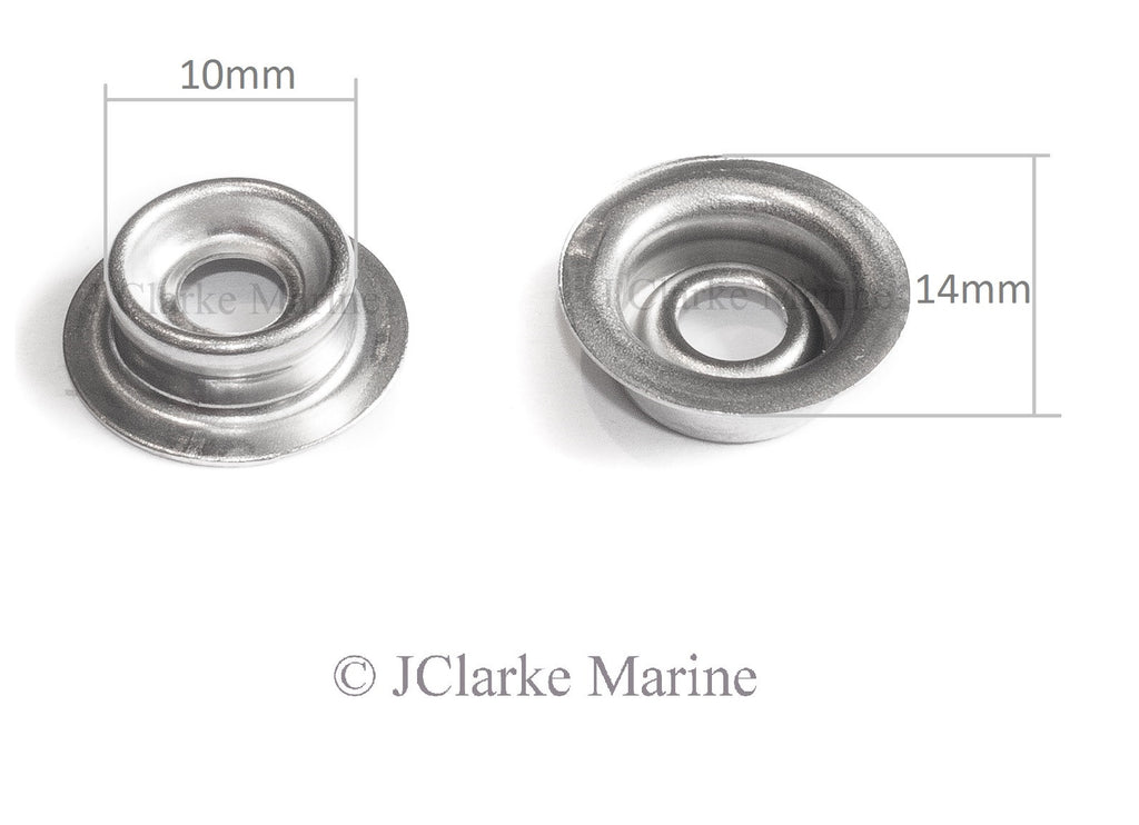 Snap fastener press studs kit 316 marine grade stainless steel canvas to canvas