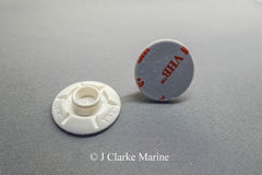 25mm White domed STUD