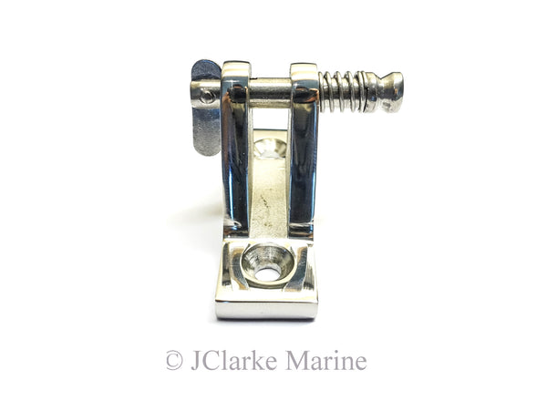 Deck hinge fitting straight 90 hinge with quick release spring pin