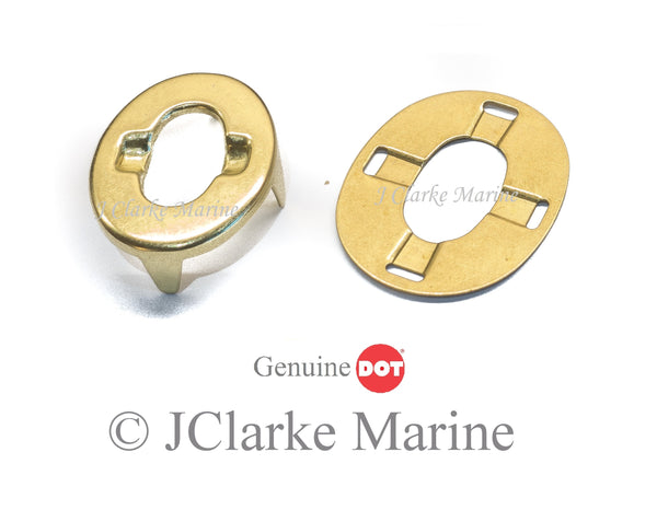 Brass finish turnbutton eye and washer DOT