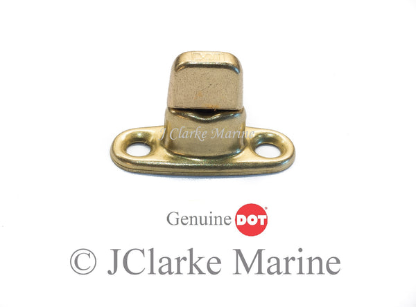 Brass gilt finish turnbutton 2 hole base stud DOT