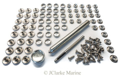 Marine grade 316 A4 stainless steel snap fastener kit buttons snaps