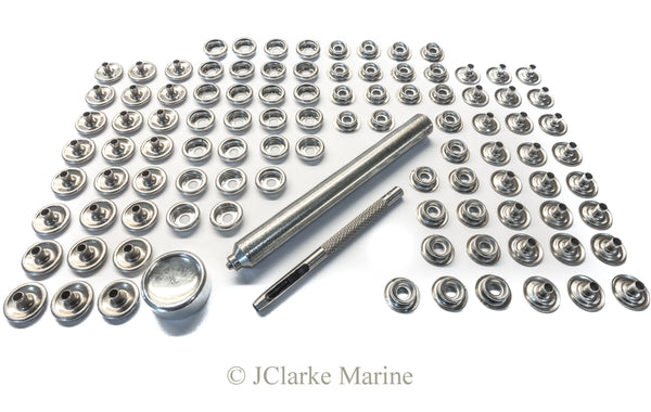 Snap fastener kit stainless canvas to canvas 304 stainless steel
