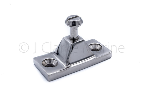 Heavy duty side mount deck hinge for boat canopy rail frame sprayhood