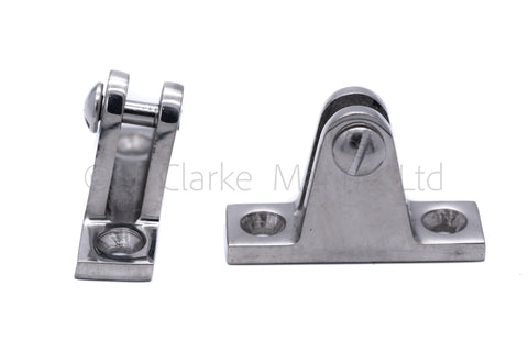 angled deck hinge for boat canopy frame tubing fitting bimini sprayhood