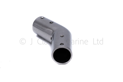 "140 degree bimini rail fitting connector 1"" 7/8"" pipe sprayhood"