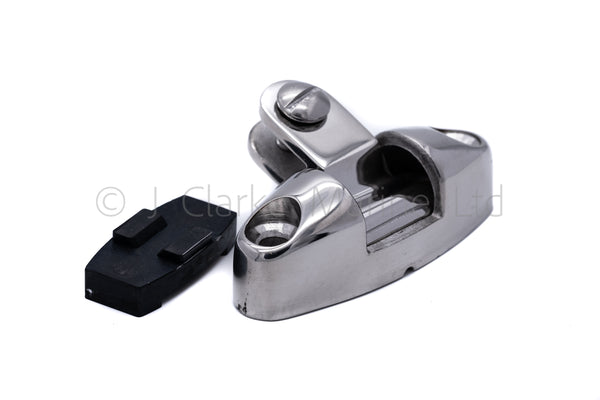Deck hinge fitting universal pivot hinge with rubber base