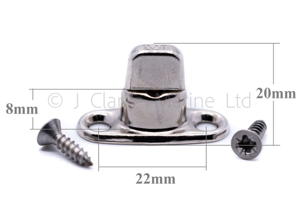 Turnbutton 8mm 2 hole base turnbuckle fastener twist boat canopy