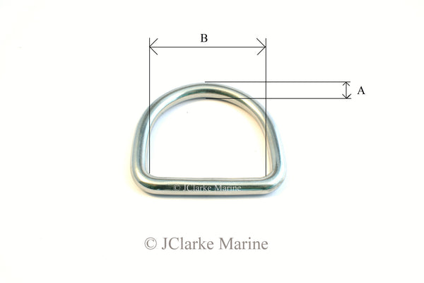 Stainless steel Dee Rings marine grade 316 A4 dog collar, webbing, leads