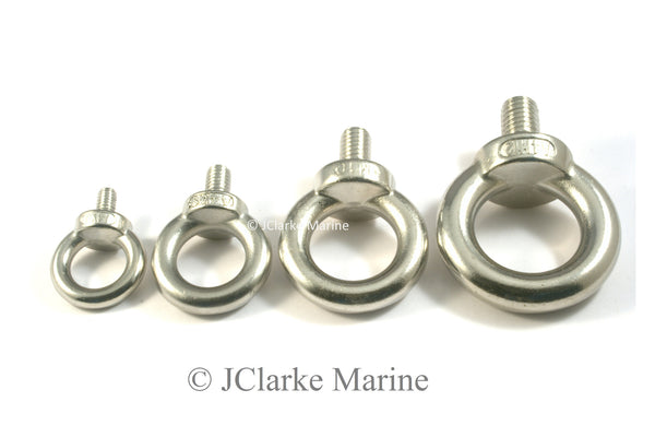 M5 M6 M8 M10 M12 Eye Bolts with short thread (316 A4 stainless steel)