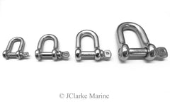 D Dee shackle 316 a4 stainless steel marine grade 4mm 5mm 6mm 8mm