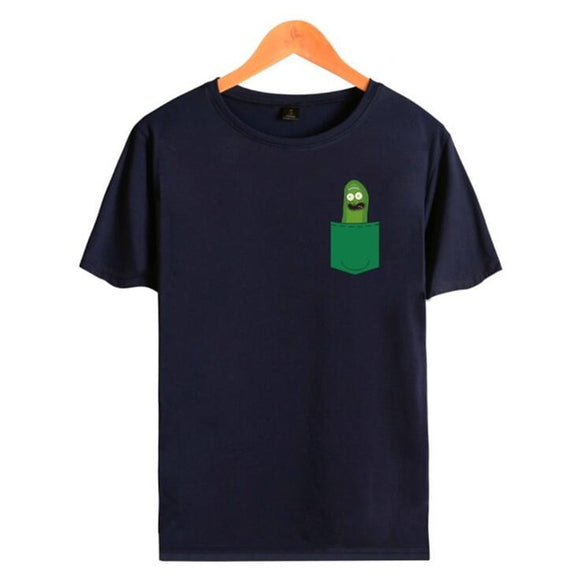 Pickle Rick in Your Green Pocket - Black