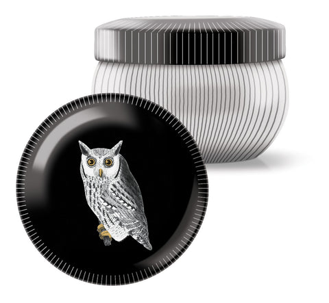 Black Owl Tin Candle, 2.5 ounces
