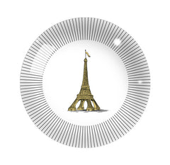 "Dome Paperweight Tour Eiffel Paris, 3"" diam"