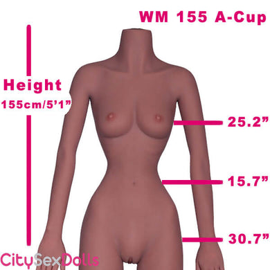 155cm (5ft 1') A-Cup Sex Doll with small tits