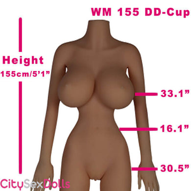 155cm (5ft 1') DD-Cup Big Breast and Thin Waist Sex Doll