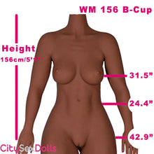 "Load image into Gallery viewer, 156cm (5ft 1"") B-Cup Big Butt Sex Doll"