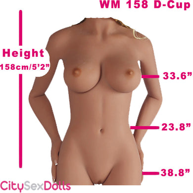 158cm (5ft 2') D-Cup French Lifelike Sex Doll
