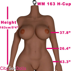 163cm (5ft 4) H-Cup Big Boob Curvy Sex Doll
