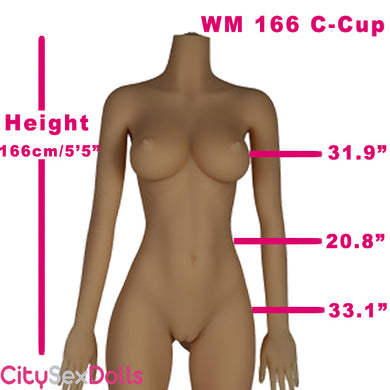166cm (5ft 5) C-Cup Juicy Lips Sex Doll with small breasts
