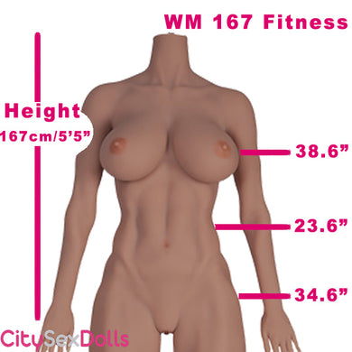167cm (5ft 5) Fitness Body Full Size Sex Doll with Killer Abs