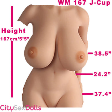 167cm (5ft 5) J-Cup Curvy Sex Doll with Huge Boobs