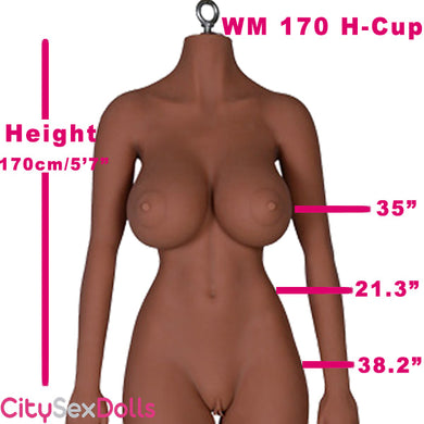 170cm (5ft 7) H-Cup Asian Life Size Sex Doll with Big Boobs