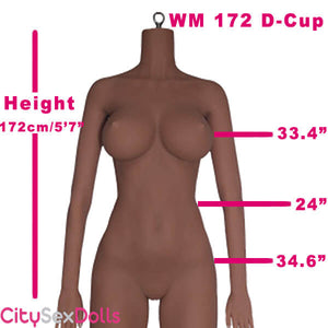 "172cm (5ft 7"") D-Cup Life Size Realistic Sex Doll"