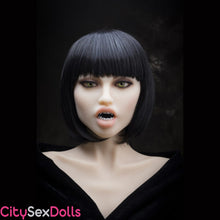 Load image into Gallery viewer, head 3 with Vampire Teeth and Tongue Kit for Sex Dolls