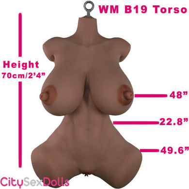 70cm (2ft4') Huge Life Size Sex Doll Torso with Fatty Butt