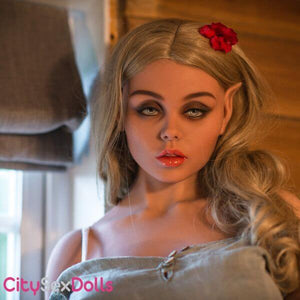Beauty Queen Elf Sex Doll showing her round boobs