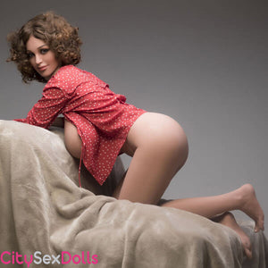 Boobilicious Sex Doll with Curly Hairs getting in mood