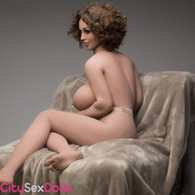 Load image into Gallery viewer, Boobilicious Sex Doll with Curly Hairs showing her back