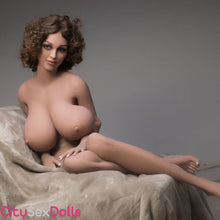 Load image into Gallery viewer, Boobilicious Sex Doll with Curly Hairs showing her melons