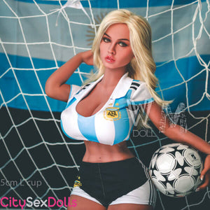 L-Cup Huge Boobs Soccer Star Doll - Lexi