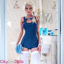 Load image into Gallery viewer, Lifelike Swimmer Lovedoll in blue dress