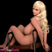 Load image into Gallery viewer, Naked Curvy Sex Doll with Huge Boobs on a chair