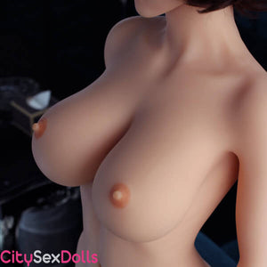 Nude boobs of Sex Doll in a Hotel Room