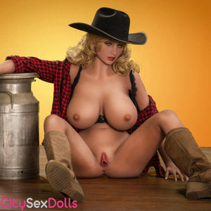 Real Cowboy Sexdoll showing naked vagina