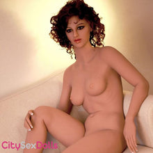Load image into Gallery viewer, Sex Doll with Curly Hair sitting nude
