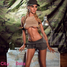 Load image into Gallery viewer, Sex Machine Love Doll in army top