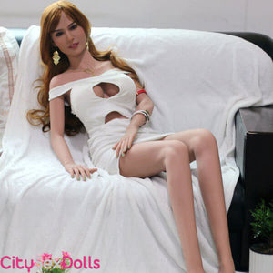 Sexy Beauty Queen Sex Doll on sofa