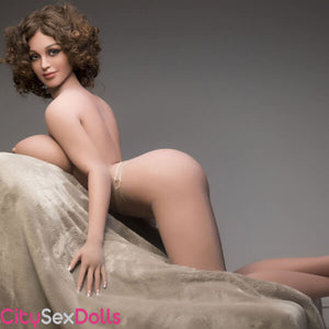 Sexy ass curve of Boobilicious Sex Doll with Curly Hairs